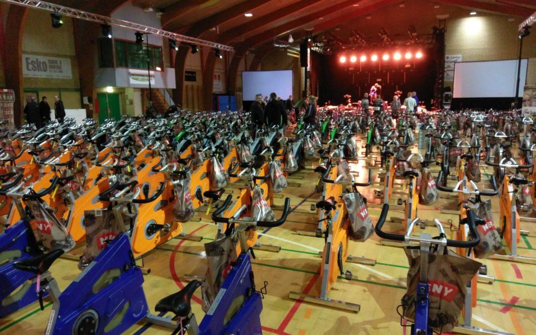 PIF Fitness deltog i Spinningsevent i Klarup