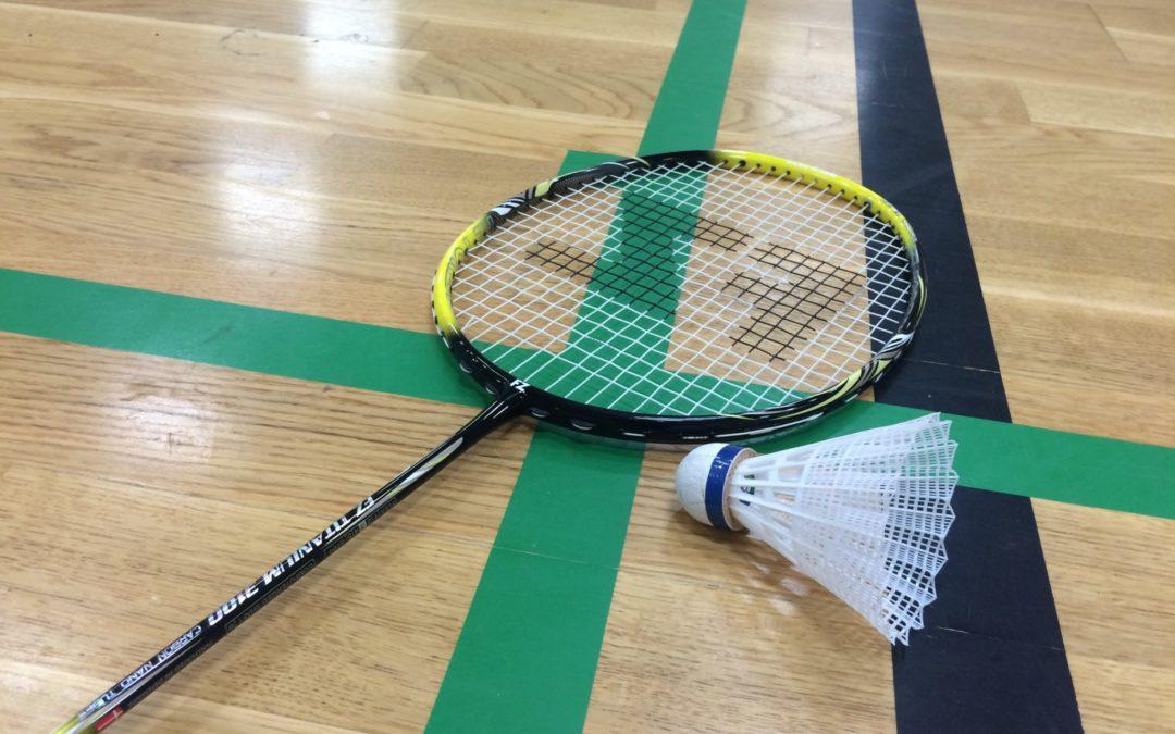 Pladser på PIFs Badmintonhold i Spentrup Hallen