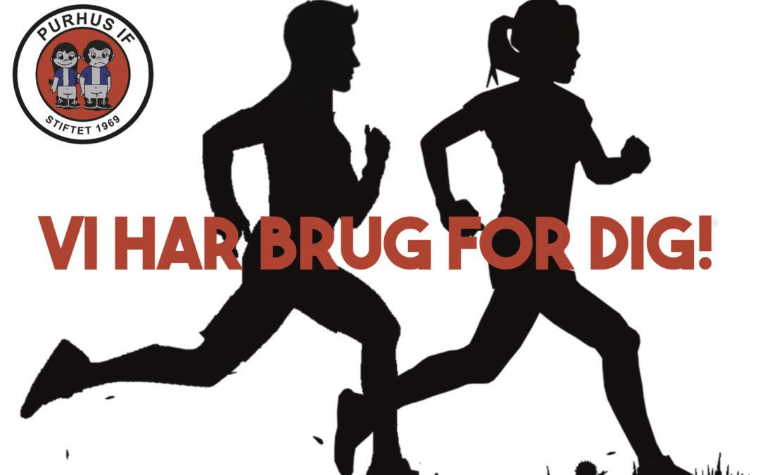 VI SØGER: Hjælper til vores løbehold!