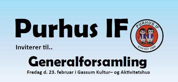 Generalforsamling d.23 februar i Gassum kultur- og aktivitetshus