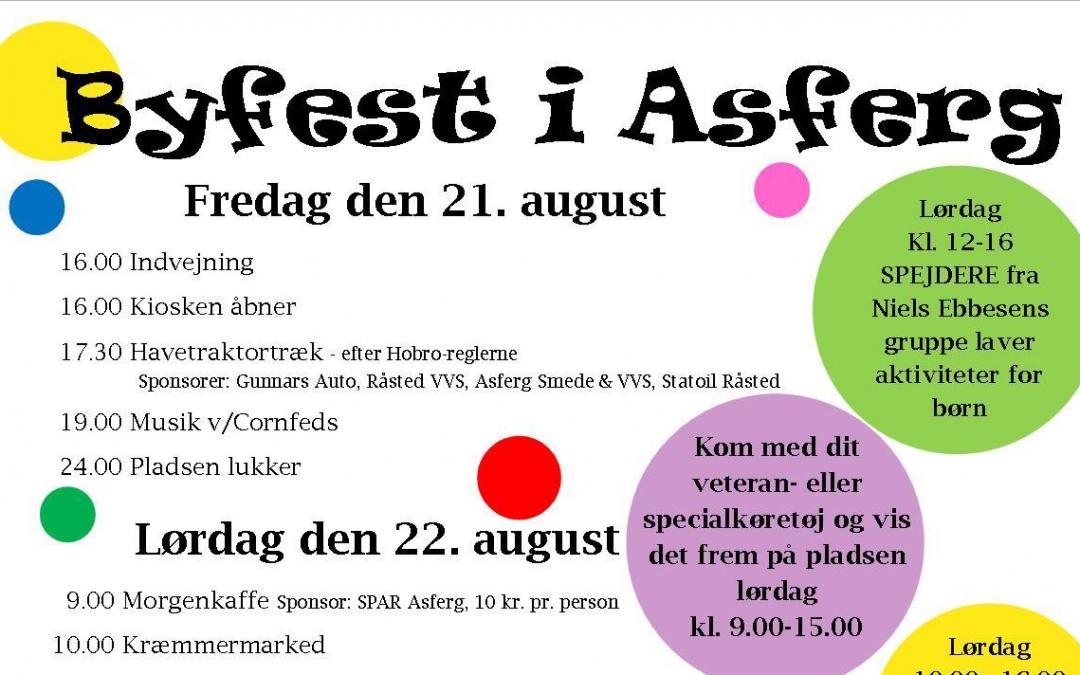 Skal du være med til Asferg Byfest?