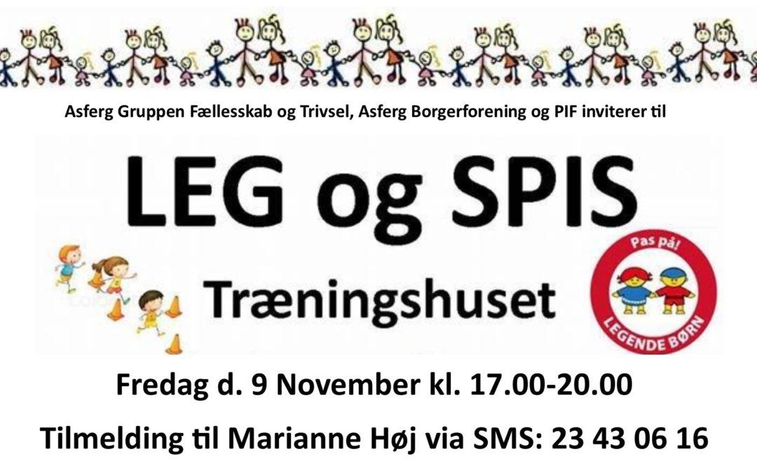 Skal du med til LEG & SPIS d. 9. November?