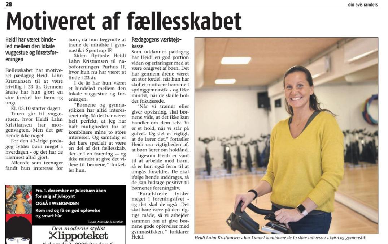Heidi Lahn i avisen: Motiveret af fællesskabet