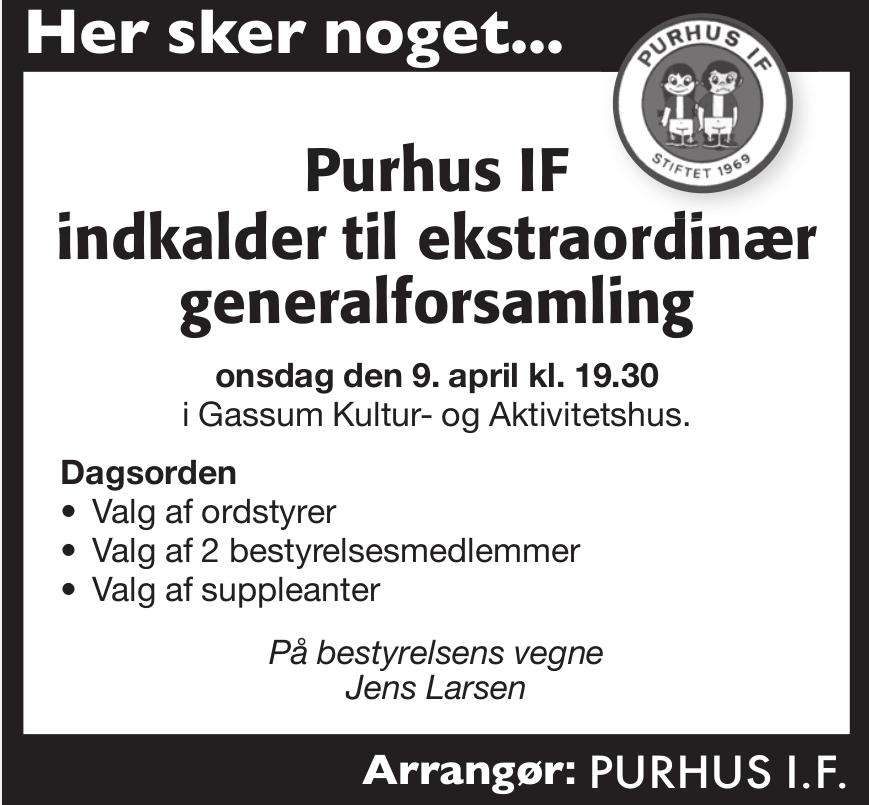 PIF ekstra ordinær generalforsamling 2014